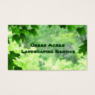 Landscaping Service Business Card