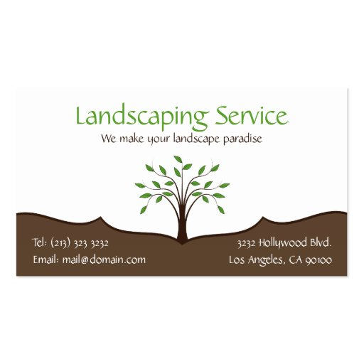 Landscaping Service Business Card (1-sided)