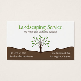 Landscaping Service Elegant Tree Nature Logo Business Card