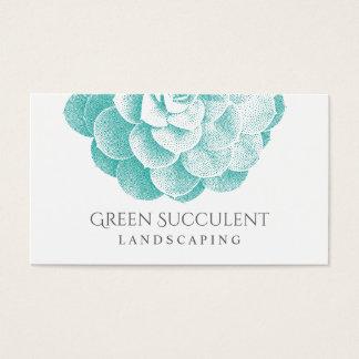 Landscaping Service Garden Succulent Plant Business Card