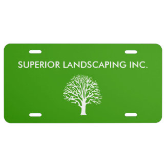 Landscaping Service License Plate