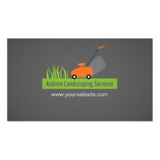 Landscaping Services, Lawn Mower Double-Sided Standard Business Cards (Pack Of 100)