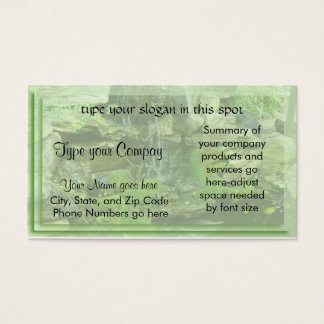 Landscaping-waterfall2 Business card- customize Business Card