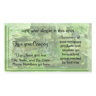 Landscaping-waterfall Business Card Template