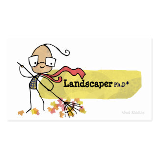 Landscaping Work Ph.D Business Card