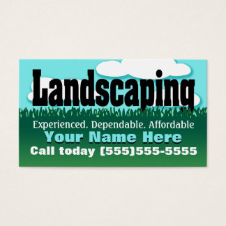 Landscaping. Yard care. Mowing. Promotional Business Card