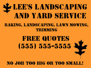 landscaping yard signs