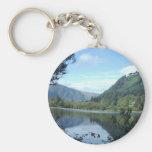 Landschaft, Glendalough Basic Round Button Keychain