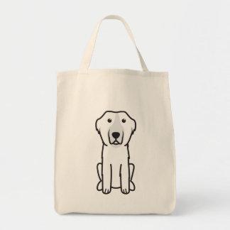Landseer Dog Cartoon Tote Bags
