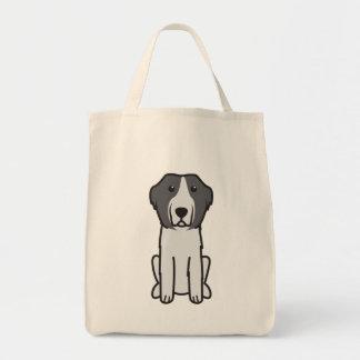 Landseer Dog Cartoon Tote Bag