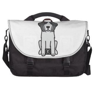 Landseer Dog Cartoon Laptop Commuter Bag