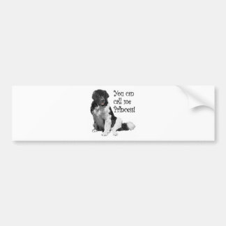 Landseer NewfoundlandPrincess Bumper Sticker