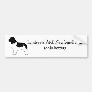Landseers ES Newfoundlands. Pegatina Para Auto
