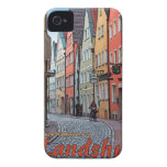Landshut - motorista en el callejón del guijarro iPhone 4 fundas