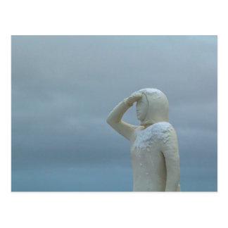 Landsýn - tierra en la escultura Islandia de la Tarjetas Postales