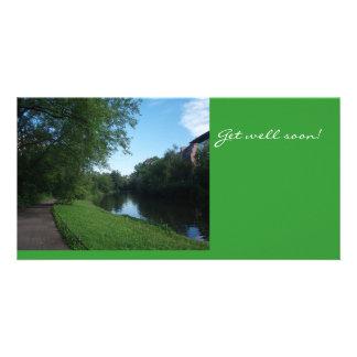 Landwehrkanal en tarjeta de la foto de Berlín, Ale Tarjetas Fotograficas Personalizadas