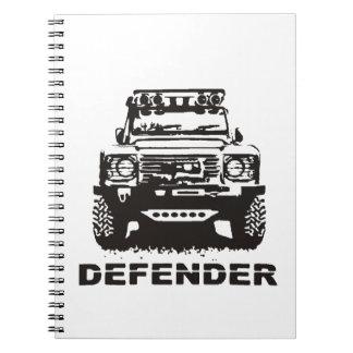 Landy Land rover Defender Hikingduck Notebook