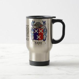 Lane Family Coat of Arms Travel Mug
