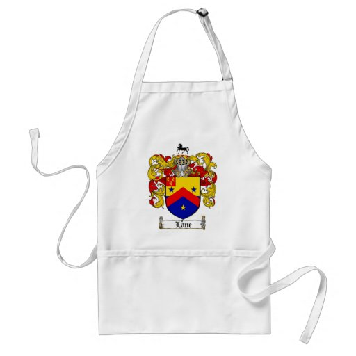 LANE FAMILY CREST -  LANE COAT OF ARMS APRONS