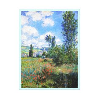 Lane in  Poppy Fields Saint-Martin Claude Monet Stretched Canvas Prints