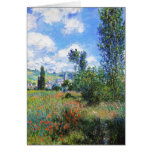 Lane in  Poppy Fields Saint-Martin Claude Monet Card