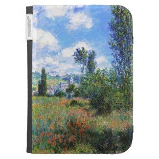 Lane in Poppy Fields Saint-Martin Claude Monet Kindle Folio Case