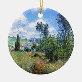 Lane in  Poppy Fields Saint-Martin Claude Monet Ceramic Ornament