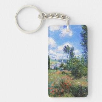 Lane in  Poppy Fields Saint-Martin Claude Monet Keychain