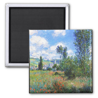 Lane in  Poppy Fields Saint-Martin Claude Monet Magnet