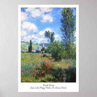 Lane in Poppy Fields Saint-Martin Claude Monet Print