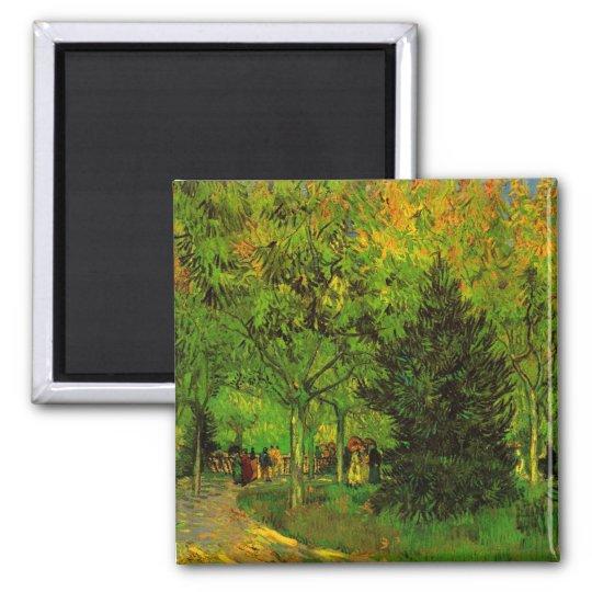 Lane in Public Garden Arles Van Gogh Fine Art Magnet