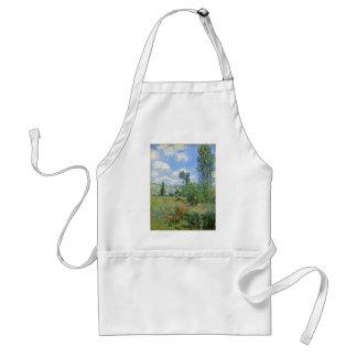 Lane in the Poppy Fields - Claude Monet Adult Apron