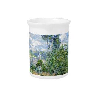 Lane in the Poppy Fields - Claude Monet Beverage Pitcher