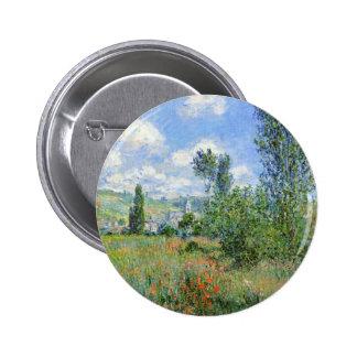 Lane in the Poppy Fields - Claude Monet Button