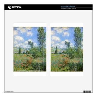 Lane in the Poppy Fields - Claude Monet Kindle Fire Decal