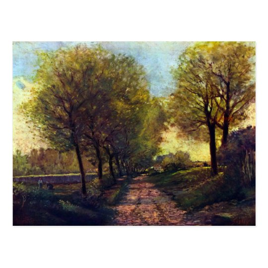 Lane near a small Town by Alfred Sisley Postcard