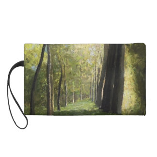 Lane of Trees by Odilon Redon Wristlet Clutch
