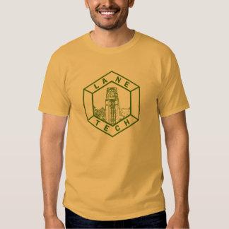 Lane Tech High School, green on gold Tee Shirt
