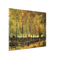 Lane with Poplars by Vincent van Gogh. Stretched Canvas Print