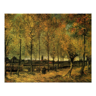 Lane with Poplars by Vincent van Gogh. Poster