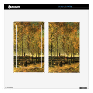 Lane with Poplars by Vincent van Gogh Kindle Fire Decals