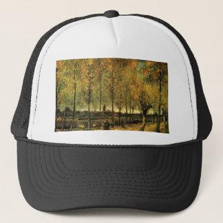 Lane with Poplars by Vincent van Gogh Trucker Hat