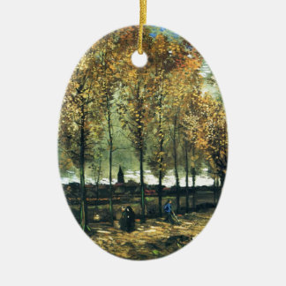 Lane with Poplars painting by Vincent Van Gogh Ceramic Ornament