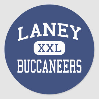 Laney - Buccaneers - altos - Wilmington Pegatina Redonda