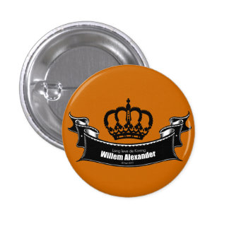 Lang leve de Koning 1 Inch Round Button