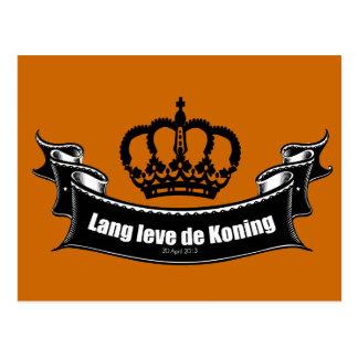 Lang leve de Koning Postcard