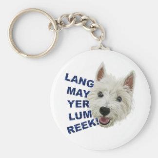 Lang May Yer Lum Reek! Basic Round Button Keychain