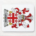 Langan Family Crest Mousepads