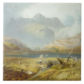 Langdale Pikes, from 'The English Lake District', Tile