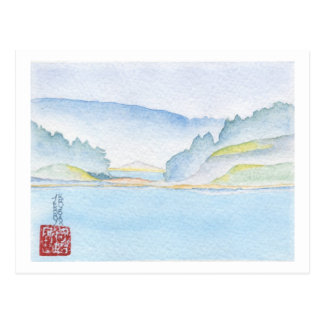 Langdale To Horseshoe Bay Watercolor Postcard